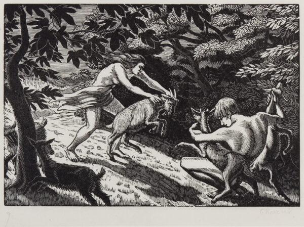RAVERAT Gwen S.W.E. (1885-1957) - The Goatherd.