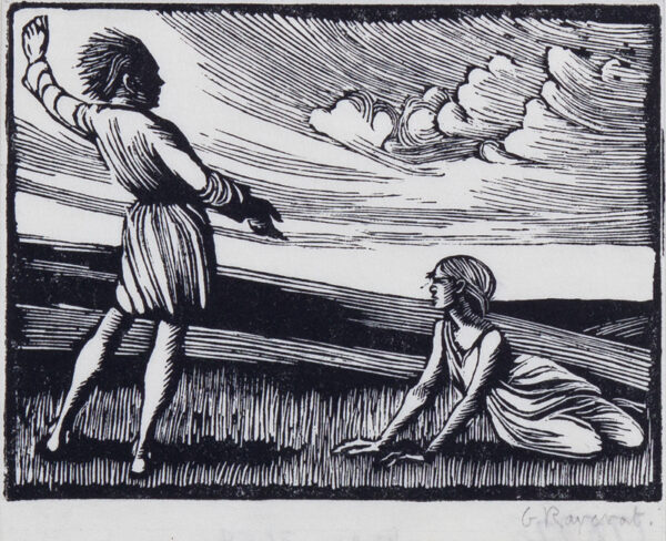 RAVERAT Gwen S.W.E. (1885-1957) - Heathcliff and Cathy.