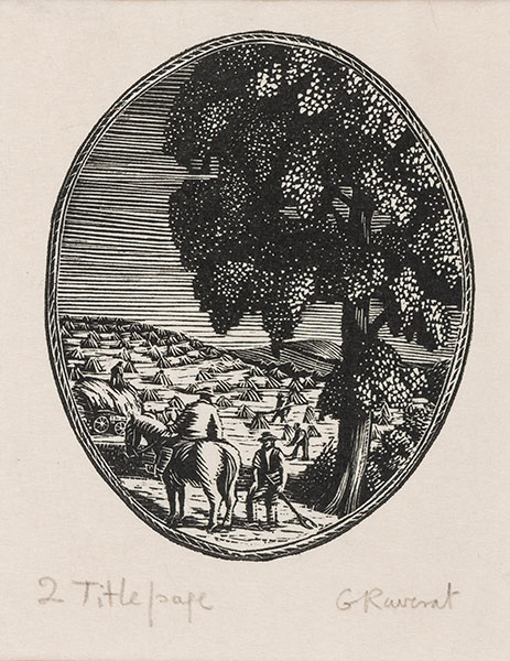 Gwen RAVERAT S.W.E. (1909-1979) - Thirty-three wood-engravings for Farmer's Glory (1934).