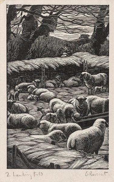 RAVERAT Gwen S.W.E. (1885-1957) - 'Lambing Fold' (SN286).