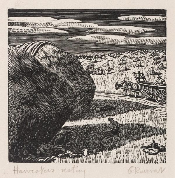 RAVERAT Gwen S.W.E. (1885-1957) - 'Harvester's Resting' (SN288).