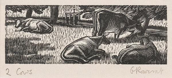 RAVERAT Gwen S.W.E. (1885-1957) - 'Cows in the Meadow' (SN290).
