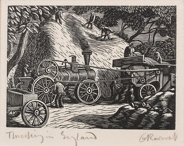 RAVERAT Gwen S.W.E. (1885-1957) - 'Threshing in England' (SN291).