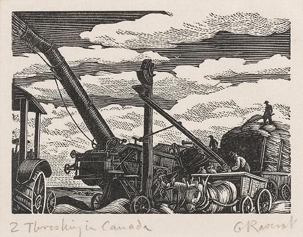 RAVERAT Gwen S.W.E. (1885-1957) - 'Threshing in Canada' (SN295).