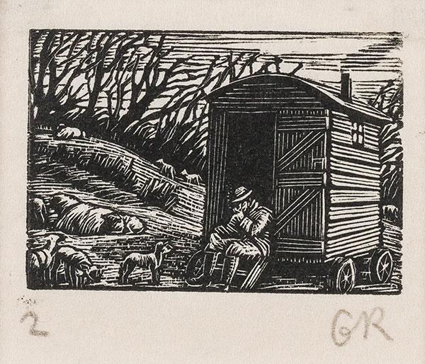 RAVERAT Gwen S.W.E. (1885-1957) - 'Shepherd' (SN278).
