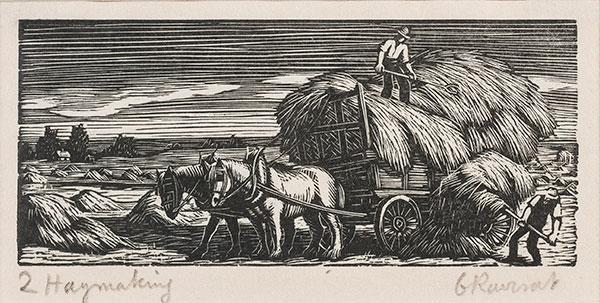 RAVERAT Gwen S.W.E. (1885-1957) - 'Haymaking' (SN297).