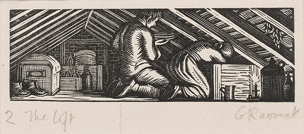 RAVERAT Gwen S.W.E. (1885-1957) - 'In the Loft' (SN298).