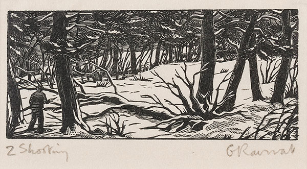 RAVERAT Gwen S.W.E. (1885-1957) - 'Shooting in Canada' (SN299).