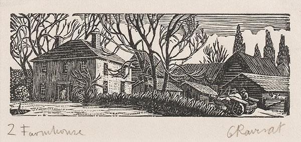 RAVERAT Gwen S.W.E. (1885-1957) - 'Farmhouse' (SN302).