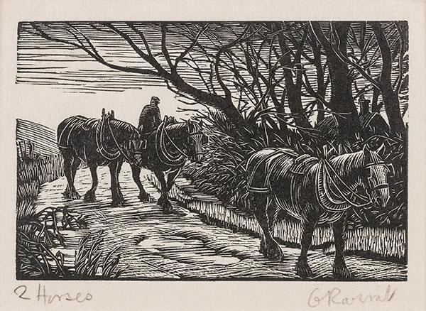 RAVERAT Gwen S.W.E. (1885-1957) - 'Horses' (SN305).