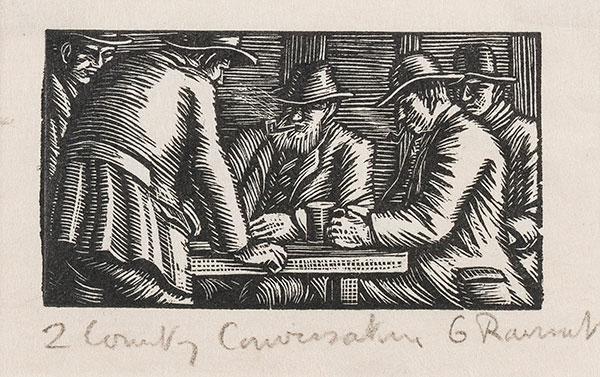 RAVERAT Gwen S.W.E. (1885-1957) - 'Country Conversation' (SN279).