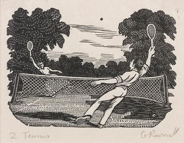 RAVERAT Gwen S.W.E. (1885-1957) - 'Tennis' (SN307).