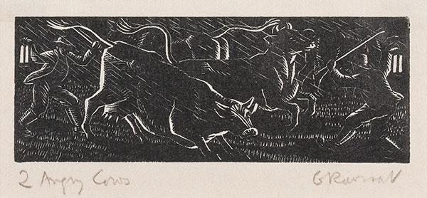 RAVERAT Gwen S.W.E. (1885-1957) - 'Angry Cows' (SN308).