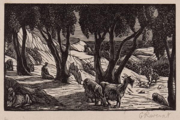 RAVERAT Gwen S.W.E. (1885-1957) - 'The Goatherd' (SN.