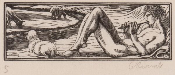 RAVERAT Gwen S.W.E. (1885-1957) - 'Daphnis pipes' (SN.