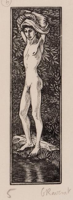 RAVERAT Gwen S.W.E. (1885-1957) - 'Daphnis Bathes' (SN.