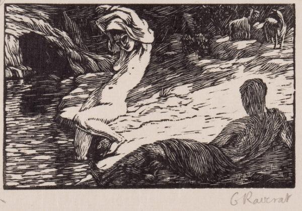 RAVERAT Gwen S.W.E. (1885-1957) - 'Chloe Bathes' (SN.