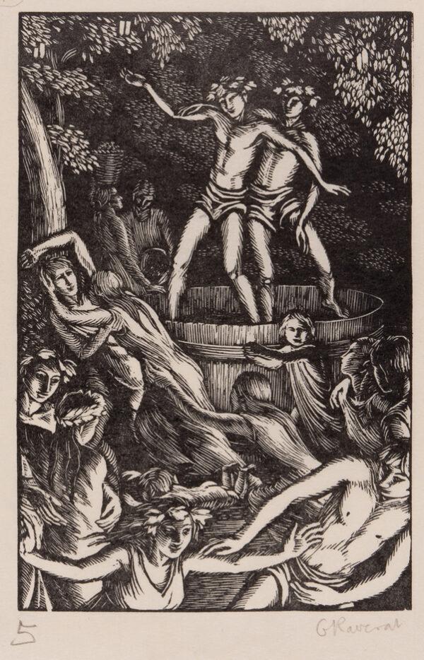 RAVERAT Gwen S.W.E. (1885-1957) - 'The Vintage Feast' (SN.