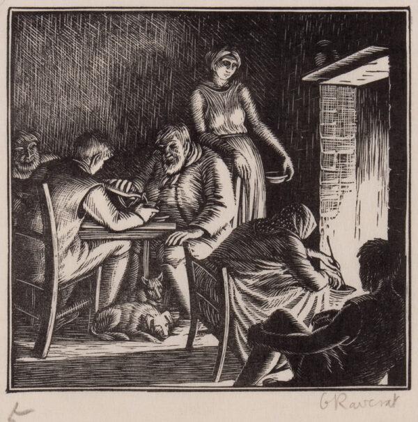 RAVERAT Gwen S.W.E. (1885-1957) - 'Winter Evening' (SN.