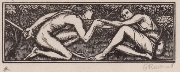 RAVERAT Gwen S.W.E. (1885-1957) - 'Lycaenion Seduces Daphnis' (SN.