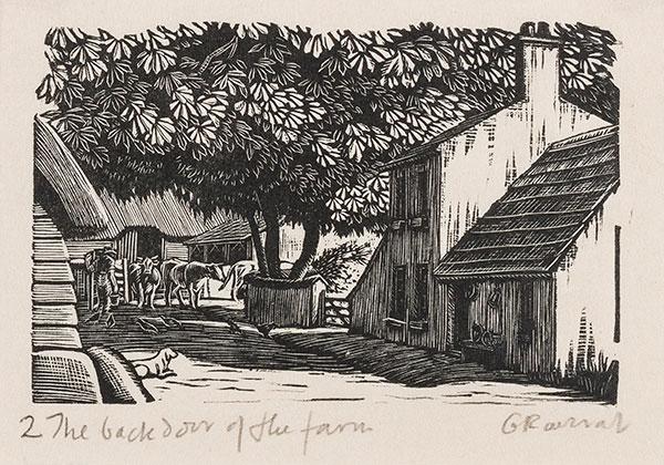 RAVERAT Gwen S.W.E. (1885-1957) - 'The Back Door of the Farm' (SN282).