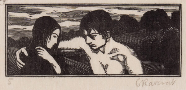 RAVERAT Gwen S.W.E. (1885-1957) - 'Daphnis asks for Forgiveness' (SN.