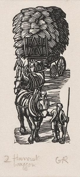 RAVERAT Gwen S.W.E. (1885-1957) - 'Harvest Wagon' (SN285).