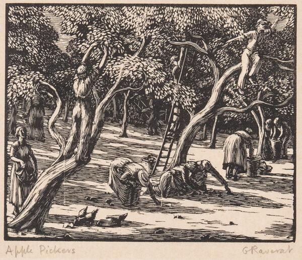 RAVERAT Gwen S.W.E. (1885-1957) - 'Apple Pickers'.