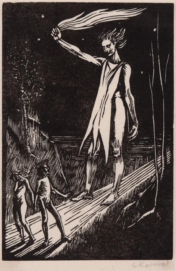 RAVERAT Gwen S.W.E. (1885-1957) - 'The Expulsion' (SN,17) Wood engraving.