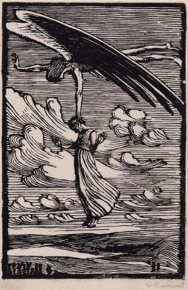 RAVERAT Gwen S.W.E. (1885-1957) - 'Flying' (SN.