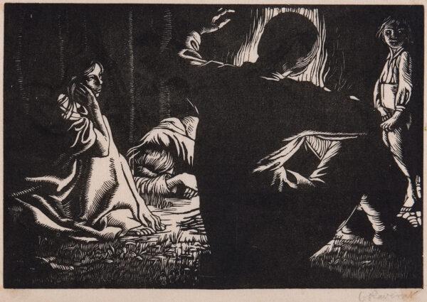 RAVERAT Gwen S.W.E. (1885-1957) - 'Gypsies' (SN.
