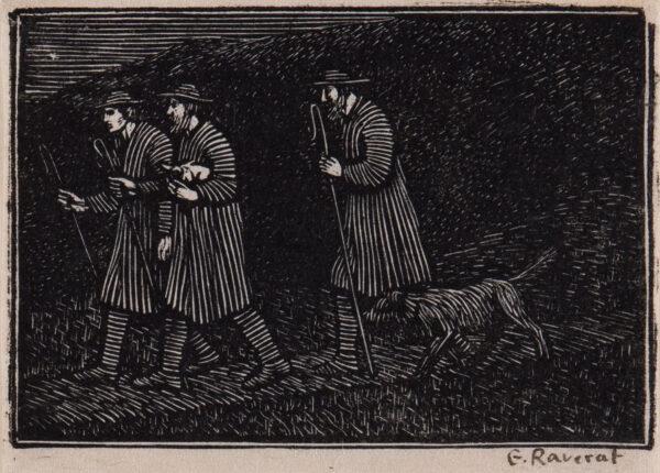 RAVERAT Gwen S.W.E. (1885-1957) - 'The Shepherds' (SN.