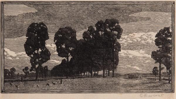 RAVERAT Gwen S.W.E. (1885-1957) - 'The Gooseherd' (SN.
