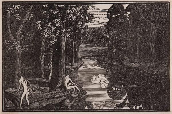 RAVERAT Gwen S.W.E. (1885-1957) - 'Boys Bathing' (SN.