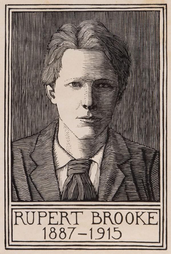RAVERAT Gwen S.W.E. (1885-1957) - 'Portrait for the Poems of Rupert Brooke'.