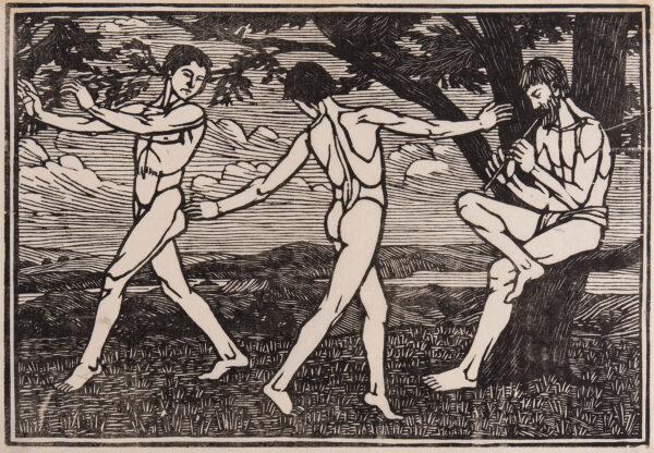RAVERAT Gwen S.W.E. (1885-1957) - 'Design: Dancing Boys' (SN.