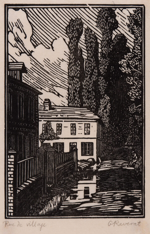 RAVERAT Gwen S.W.E. (1885-1957) - 'Rue de Village (SN.