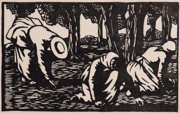 RAVERAT Gwen S.W.E. (1885-1957) - 'Olive Pickers' (SN.