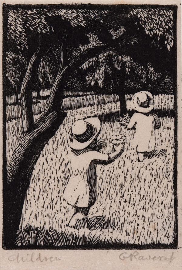 RAVERAT Gwen S.W.E. (1885-1957) - 'Children' (SN.