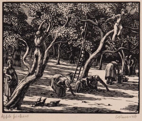 RAVERAT Gwen S.W.E. (1885-1957) - 'Apple Pickers' (SN.