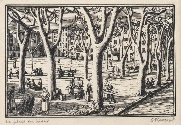 RAVERAT Gwen S.W.E. (1885-1957) - 'La Place en Hiver' (SN113).