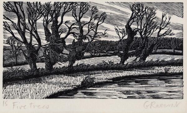 RAVERAT Gwen S.W.E. (1885-1957) - 'Five Trees'.