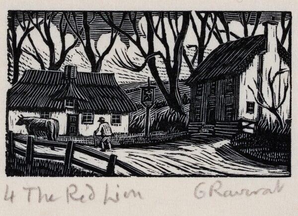 RAVERAT Gwen S.W.E. (1885-1957) - 'The Red Lion'.