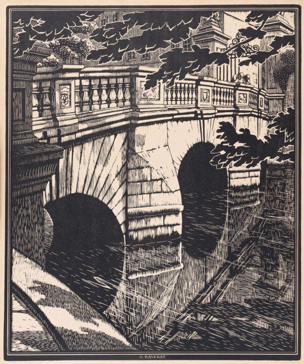 RAVERAT Gwen S.W.E. (1885-1957) - Cambridge: 'Old St John's Bridge'.