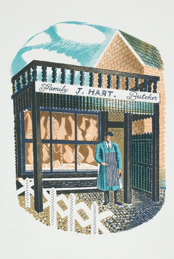 RAVILIOUS Eric (1903-1942) - 'Family Butcher': Frontispiece / p.