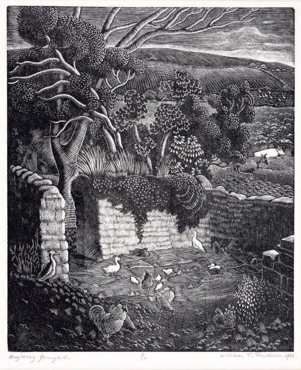 RAWLINSON William T (1912-1993) - 'Anglesey Farmyard'.