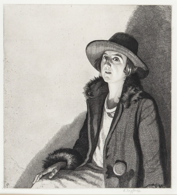 RAY-JONES Raymond R.E. (1886-1942) - 'Lamplight'.