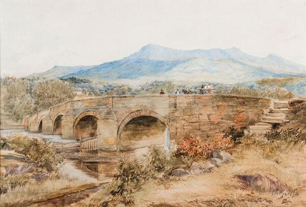 REDGRAVE Richard RA (1804-1888) - A Welsh bridge.