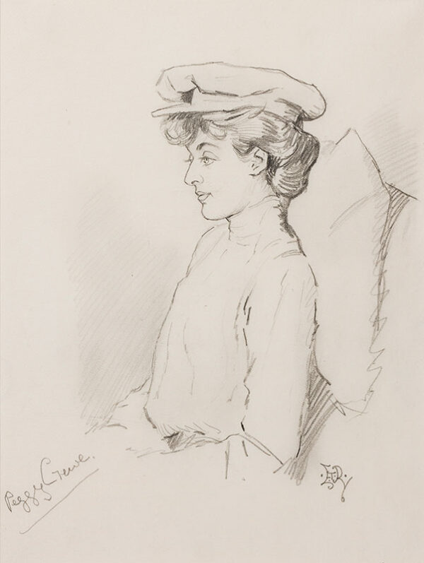 REED Edward Tennyson (1860-1933) - 'Peggy Crewe' (Countess of Crewe, nee Lady Margaret Primrose, 1881-1967), political hostess and pioneering woman magistrate.