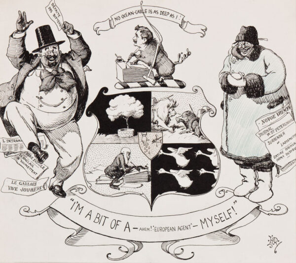 REED Edward Tennyson (1860-1933) - Six drawings by the parliamentary caricaturist for Punch.